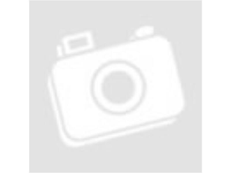 Fehér,szürke pöttyös ruha (116) -Új